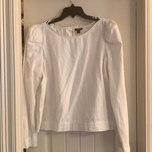 Ivory Puff Shoulder Blouse